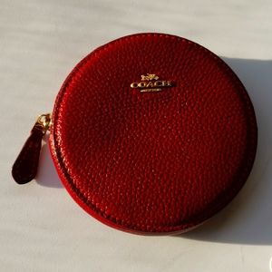 Red Coach coin purse